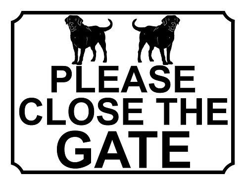 Please Close The Gate Labrador Theme Yard Sign Garden