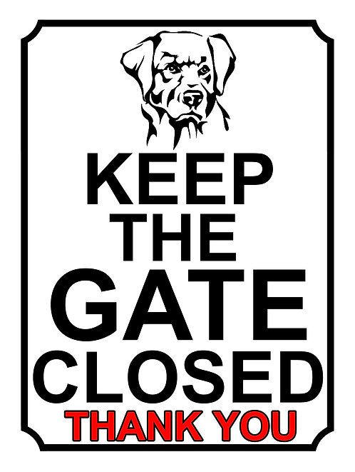 Keep The Gate Closed Thankyou Dog Breed Theme Yard Sign Garden