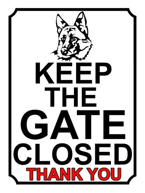 Keep The Gate Closed Thankyou Dog German Shepherd Theme Yard Sign Garden