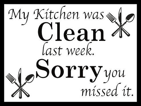 My Kitchen Was Clean Last Week Retro Metal Sign / Fridge Magnet Pub Bar Man Cave