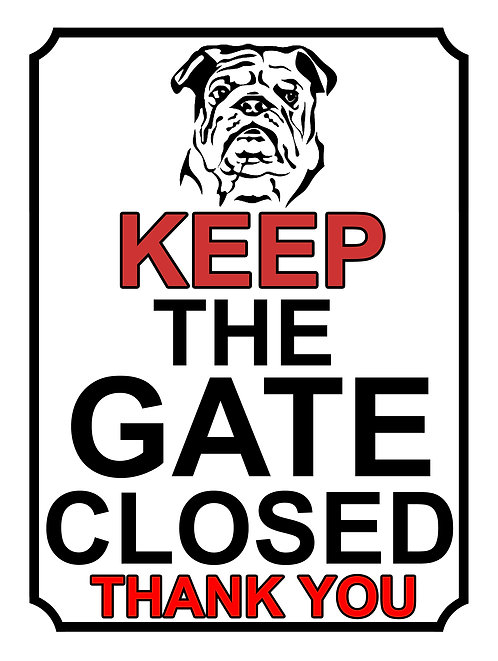 Keep The Gate Closed Thankyou Dog Breed Terrier Theme Yard Sign Garden