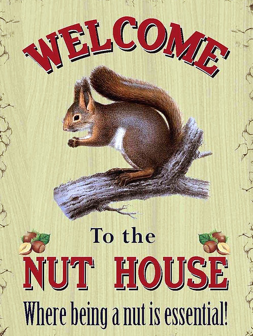 The Nut House, Retro Metal Sign / Fridge Magnet Pub Bar Man Cave