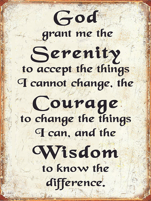 GOD GRANT ME THE SERENITY, Retro Metal Sign / Fridge Magnet Home Decor