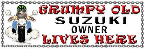 Grumpy Old Suzuki Owner,  Humorous metal Plaque 267mm x 88mm