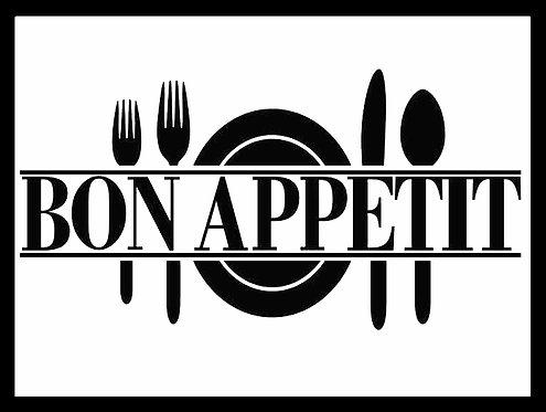 Bon Appetit, Retro Metal Sign / Fridge Magnet Pub Bar Man Cave