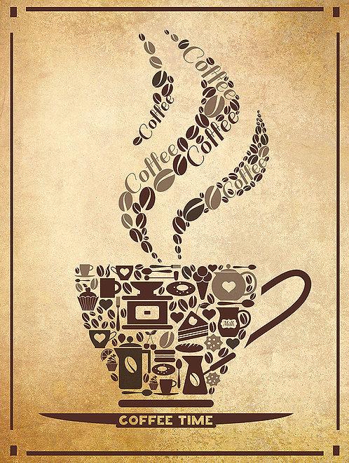 Coffee Cup, Retro Metal Sign / Fridge Magnet Pub Bar Man Cave