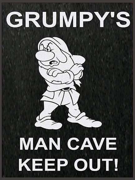 Grumpy's Man Cave, Retro Metal Sign / Fridge Magnet Pub Bar Man Cave