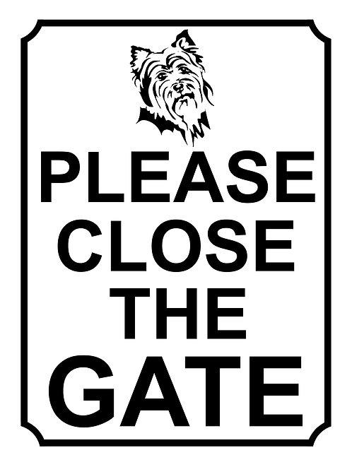 Please Close The Gate Dog Theme Yard Sign Garden