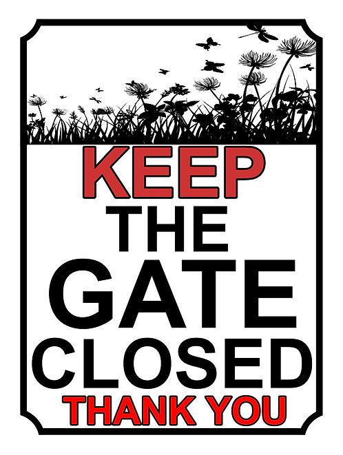 Keep The Gate Closed Thankyou Flower Field Theme Yard Sign Garden