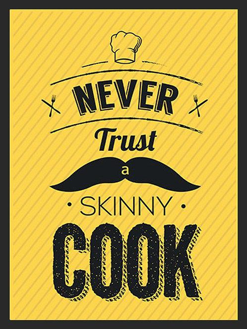 Skinny Cook Joke, Retro Metal Sign / Fridge Magnet Pub Bar Man Cave
