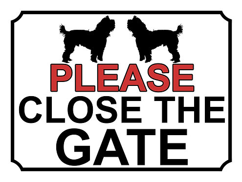 Please Close The Gate Dog Breed Silhouette Theme Yard Sign Garden