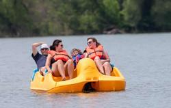 Pedal boats at Lakes Park