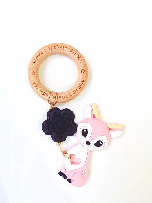 Rose Deer Teething Bracelet
