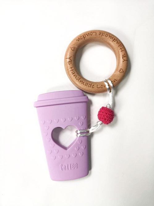 Coffee Teething Bracelet With Logo