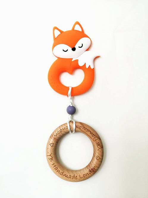 Fox Teething Bracelet with Logo