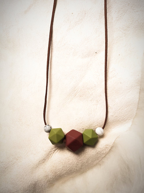 Mother&Baby Vintage Vegan Leather Necklace