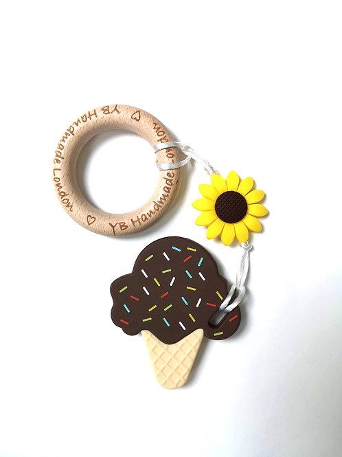 Daisy Ice Cream Teething Bracelet