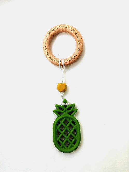Pinapple Teething Bracelet with Logo