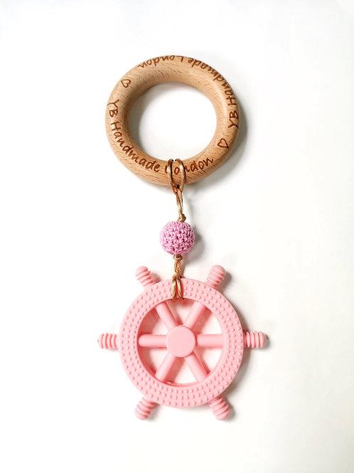 Little Captain Teething Bracelet (Pink)