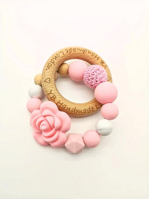 Elegant Rose Teething Ring