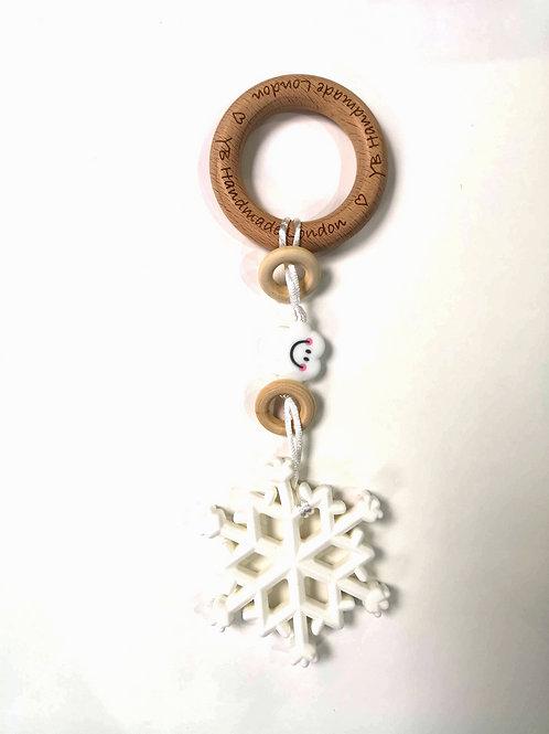 Christmas Snowflake Teething Bracelet