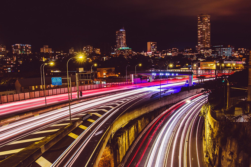 You've probably seen lots of photos with traffic streaks like this. In case you didn't know, this effect is essentially obtained by using a long shutter speed i.e. long exposure