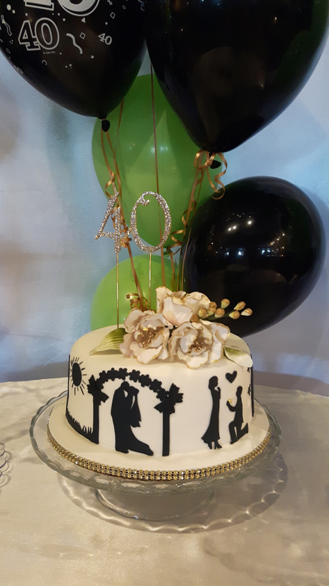 Designer Birthday Cake - Fab at 40!