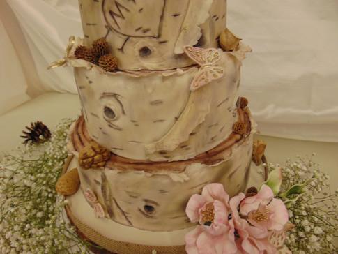 Designer Wedding Cake - Birch Lover