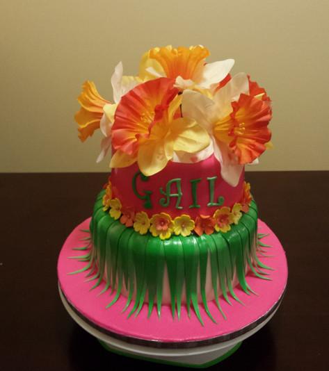 Designer Birthday Cake - Hawaii Here I Come!