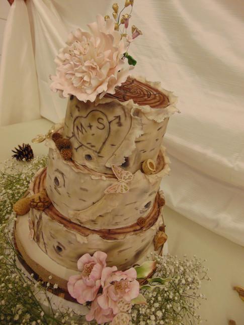 Desinger Wedding Cake - Birch Lover