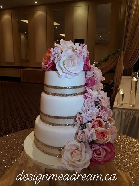Designer Wedding Cake - Pretty In Pink