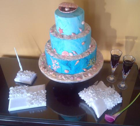 Designer Wedding Cake - Sea of Love