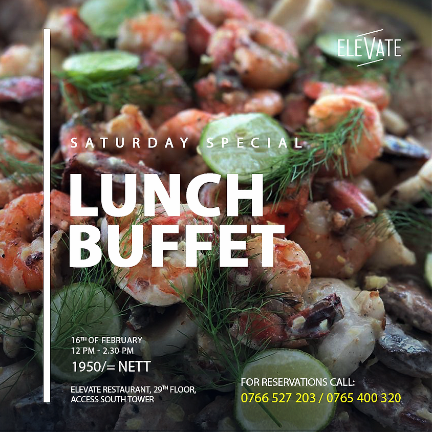 Saturday Special (Lunch Buffet)
