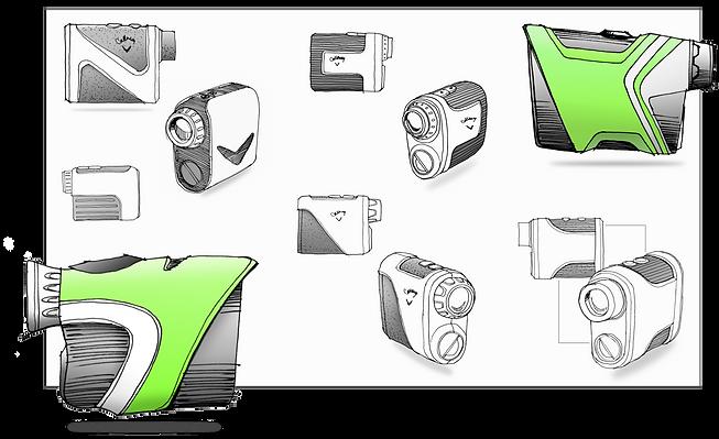 Callaway Golf Rangefinder Sketches