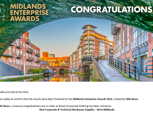 It's official, DCC are the Best Corporate & Technical Workwear Supplier - West Midlands