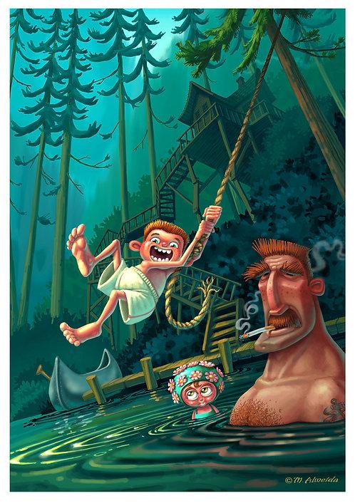 """Rope Swing"" 12 X 18 Print"