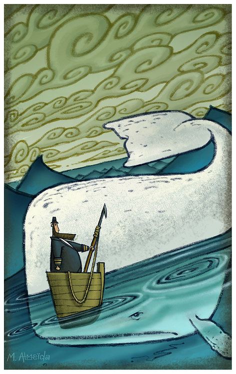 """Moby Dick"" 12 X 18 Print"