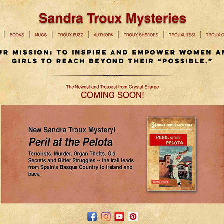 Sandra Troux Mysteries Website Relaunch: It's a Wowzer!!