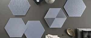 Glamour Argento Hexagons 13x13