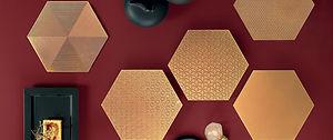 Glamour Oro Hexagons 13x13