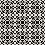 Deco Dantan Fleur Noir/Blanc