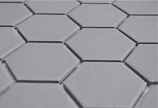 "Grey 2"" hex unglazed"
