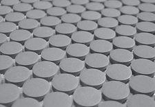 grey penny round unglazed