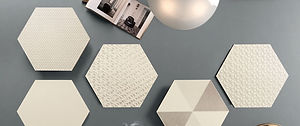 Glamour Latte Hexagons 13x13