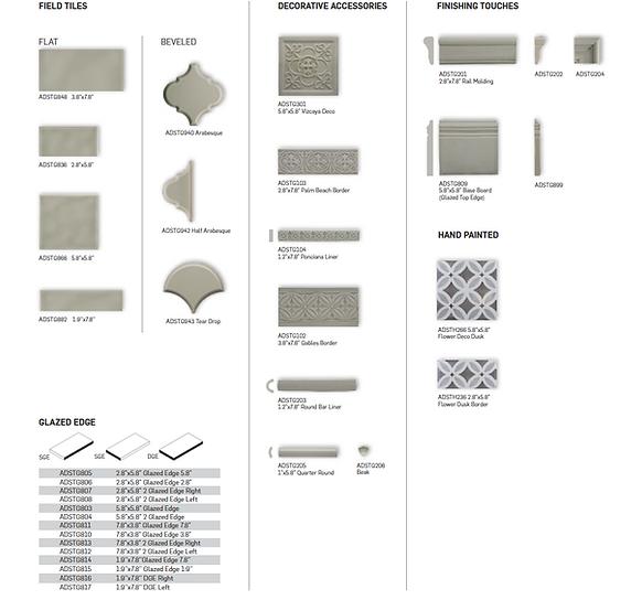 Adex Studio Field Tile and Decorative Accessories