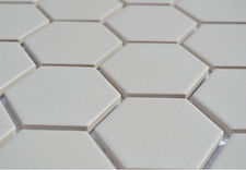 "white 2"" hex unglazed"