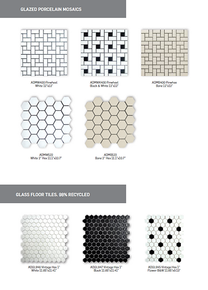 Adex Porcelain and Glass Floor Tiles
