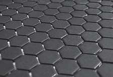 "Black 1"" Hex Unglazed"