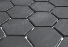 "Black 2"" Hex unglazed"