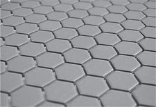 "grey 1"" hex unglazed"
